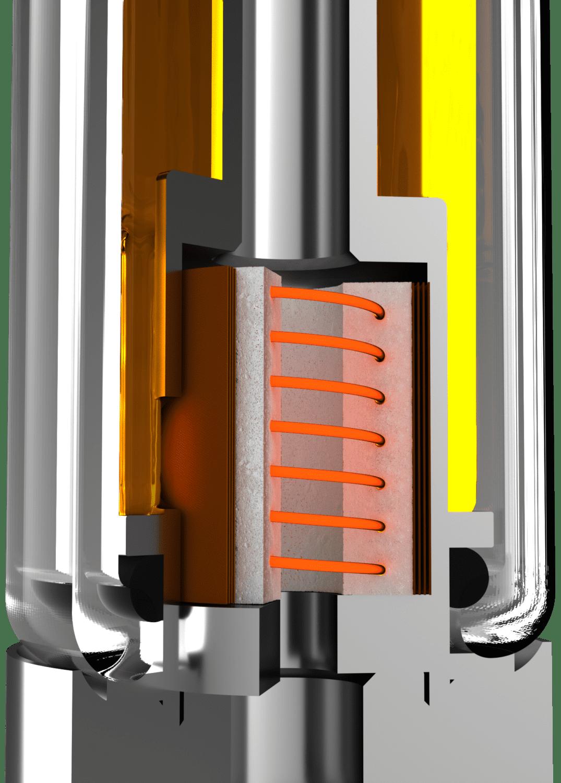 AVD proprietary ceramic core hwith SmartPulse